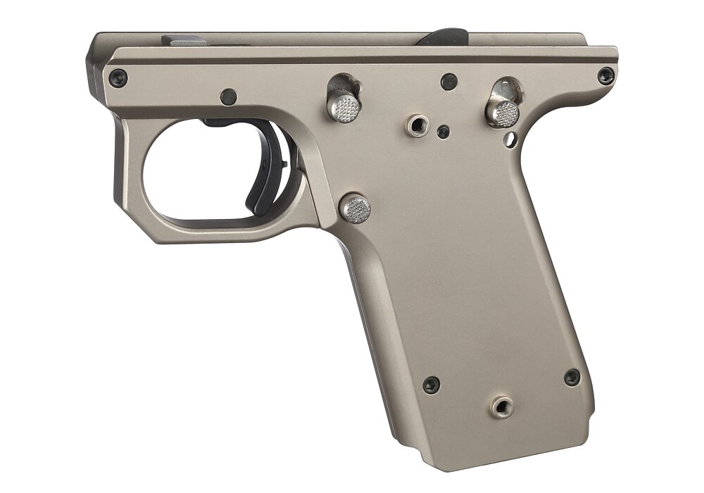 VC Target Frame, 1911 Style, Silver | Volquartsen Firearms