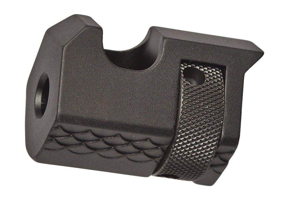 Black, V-Cut single port comp