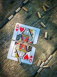 split playing card