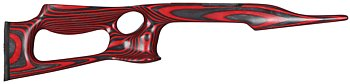 Red Lightweight Thumbhole Stock