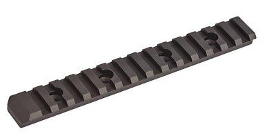 Flat top rail - black